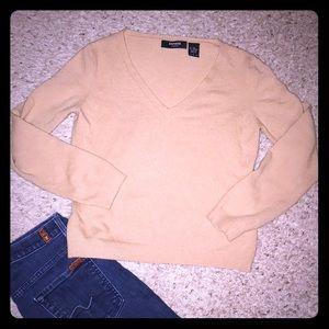 Express Stretch Wool Blend V Neck L Sweater
